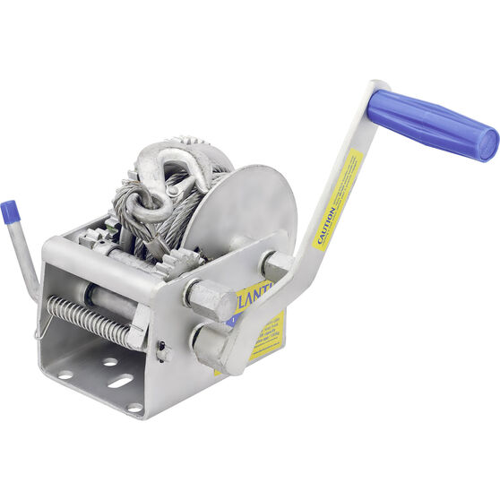 Atlantic Three Speed Trailer Winch with Cable, , bcf_hi-res