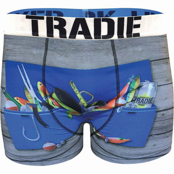 Tradie Men's Tacklebox Underwear Print S Men's, Print, bcf_hi-res
