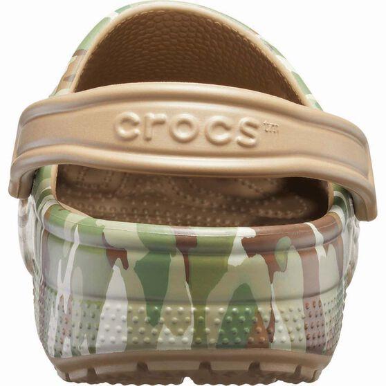 Crocs Unisex Classic Graphic Clog Dark Camo Green/Khaki 8, , bcf_hi-res
