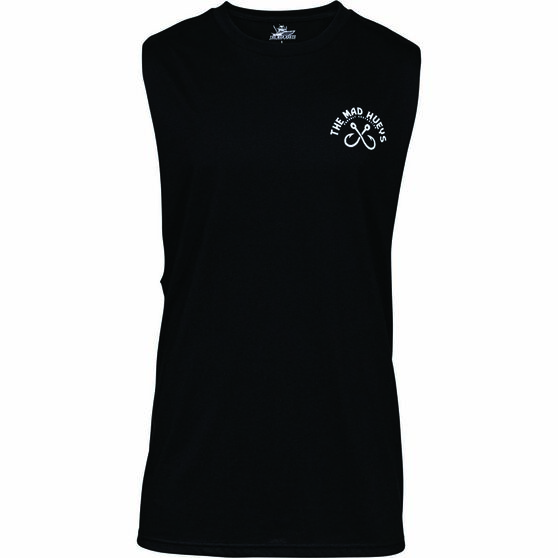 The Mad Hueys Men's Can Crusher UV Muscle Tank, Black, bcf_hi-res
