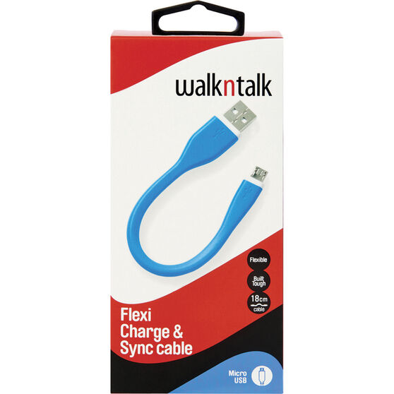 Walkntalk Flexi Micro USB Charge and Sync Cable, , bcf_hi-res