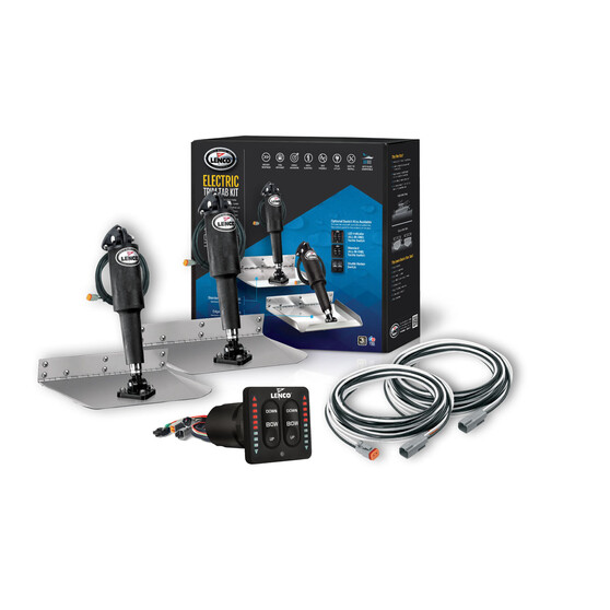 "Lenco 12""x12"" 12V Trim Tab Kit With LED Switch, , bcf_hi-res"