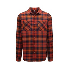 Macpac Men's Porters Organic Shirt Picante / Orange Flame S, Picante / Orange Flame, bcf_hi-res