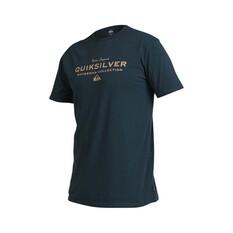 Quiksilver Waterman Men's Sea Mist Tee Midnight Blue S, Midnight Blue, bcf_hi-res