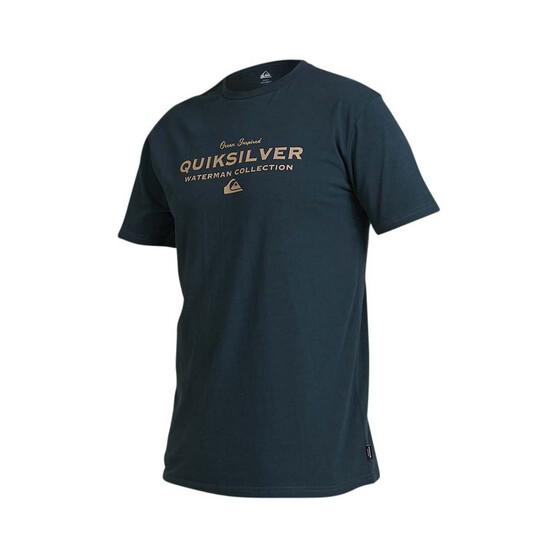 Quiksilver Waterman Men's Sea Mist Tee, Midnight Blue, bcf_hi-res