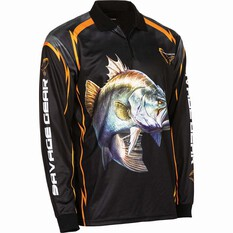 Savage Men's Barra Sublimated Polo Black M, Black, bcf_hi-res