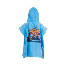 Quiksilver Kids Ink Hooded Towel Dusky Blue OSFM, Dusky Blue, bcf_hi-res