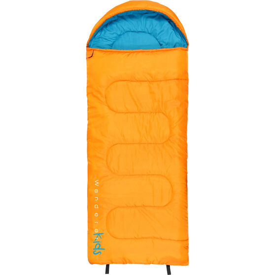 Wanderer LilFlame Hooded Sleeping Bag, , bcf_hi-res