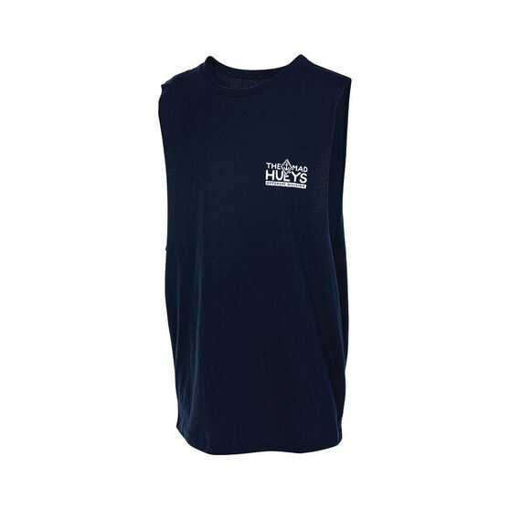 The Mad Hueys Youth Masters UV Muscle Tank, Navy, bcf_hi-res