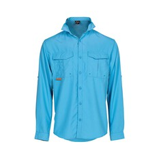 Savage Men's Long Sleeve Fishing Shirt Blue S, Blue, bcf_hi-res