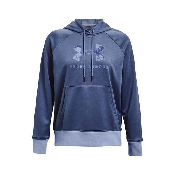 Under Armour Women's Shoreline Terry Hoodie, Washed Blue, bcf_hi-res