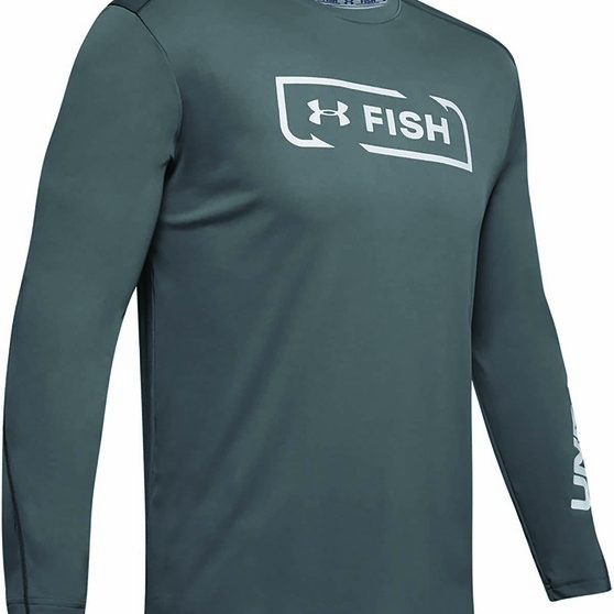 Under Armour Men's Sublimated Isochill Shore Break Long Sleeve T Shirt, Pitch Grey, bcf_hi-res