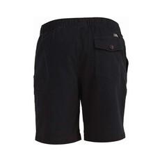 Quiksilver Waterman Men's Cabo Shore Cotton Shorts, Black, bcf_hi-res