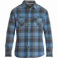 Men's Dry Camp Long Sleeve Shirt Blue S, Blue, bcf_hi-res