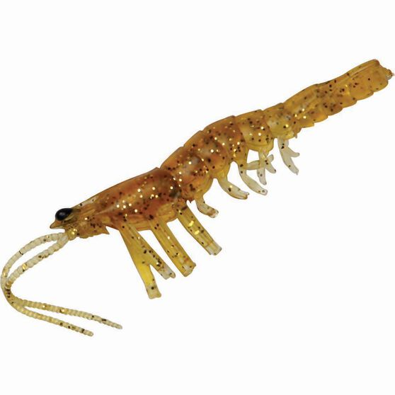 Savage Manic Shrimp Soft Plastic Lure 2.5in Golden, Golden, bcf_hi-res