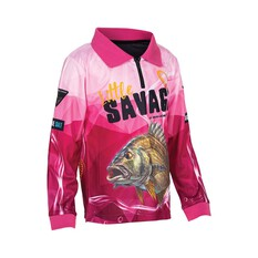 Little Savage Kids'  Bream Sublimated Polo, Pink, bcf_hi-res