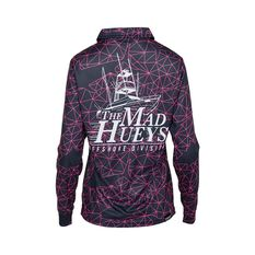 The Mad Hueys Women's Offshore Tech Fishing Jersey Grey / Pink S, Grey / Pink, bcf_hi-res