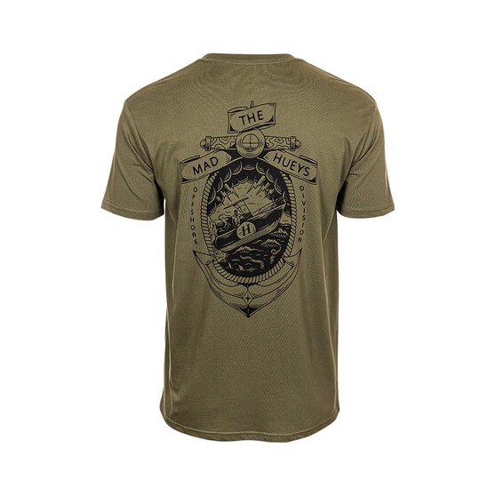 The Mad Hueys Men's The Animal Short Sleeve Tee, Army Green, bcf_hi-res