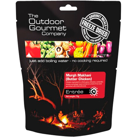 Outdoor Gourmet Company Butter Chicken Freeze Dried Food 2 Serves, , bcf_hi-res