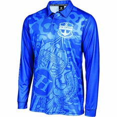 The Mad Hueys Men's Armed Camo Fishing Jersey Blue S, Blue, bcf_hi-res