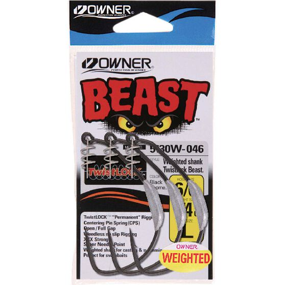 Owner Weighted Beast Hooks, , bcf_hi-res