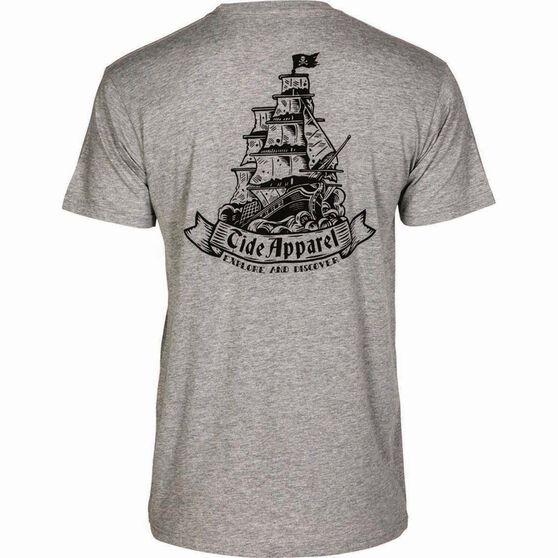 Tide Apparel Men's Set Sail Tee Grey S, Grey, bcf_hi-res