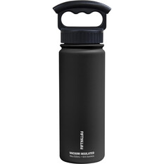 Fifty Fifty Insulated Drink Bottle 530ml Black 530ml, Black, bcf_hi-res