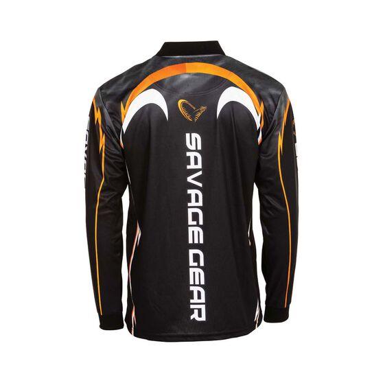 Savage Men's Barra Sublimated Polo Black XL, Black, bcf_hi-res