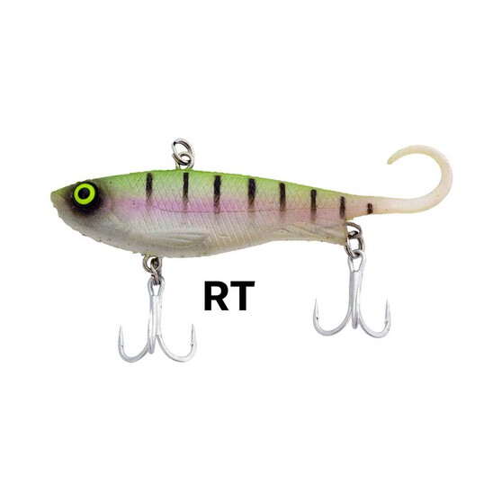Zerek Fish Trap Vibe Lure 80mm 13.5g Rainbow Tiger, Rainbow Tiger, bcf_hi-res