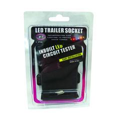Trailer Socket - 7 Pin Flat, LED, , bcf_hi-res