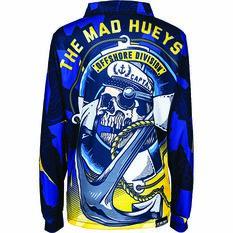 The Mad Hueys Kids Sinking Captain Fishing Jersey, Navy, bcf_hi-res