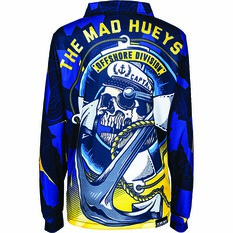The Mad Hueys Kids Sinking Captain Fishing Jersey, Navy, bcf_hi-res