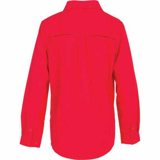 Outdoor Expedition Kid's Vented Long Sleeve Fishing Shirt 12 Pop Pink 12, Pop Pink, bcf_hi-res