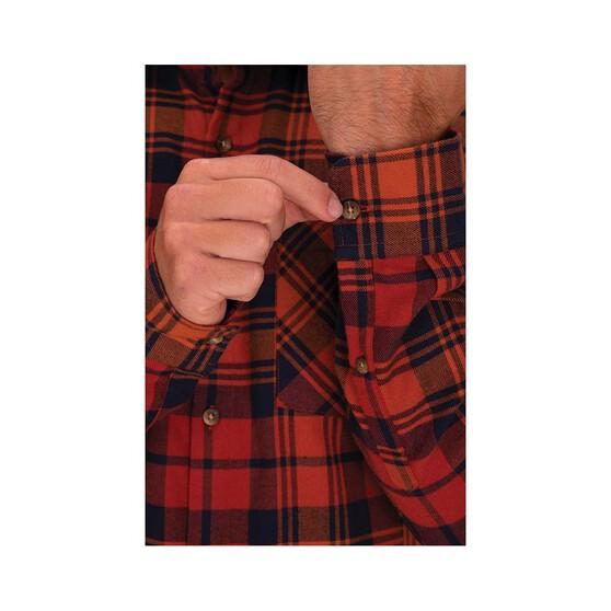 Macpac Men's Porters Organic Shirt, Picante / Orange Flame, bcf_hi-res