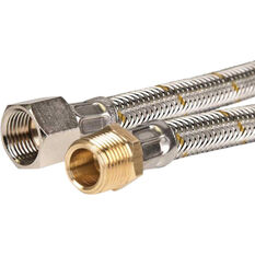 Companion Braided 3/8 SAEF Gas Hose 1200mm, , bcf_hi-res
