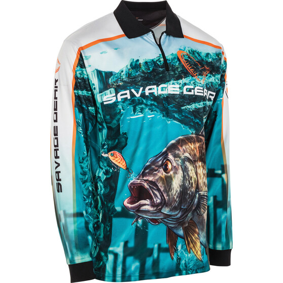 Savage Men's Bream Sublimated Polo, Blue, bcf_hi-res