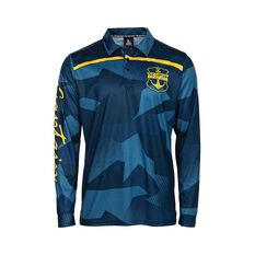 The Mad Hueys Men's Captain Ocean Camo Fishing Jersey Navy S, Navy, bcf_hi-res