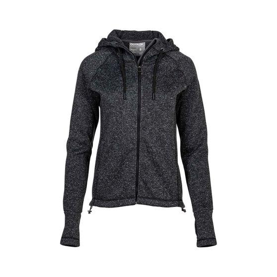 OUTRAK Escarpment Jacket - Womens, Charcoal Marle, 8, , bcf_hi-res