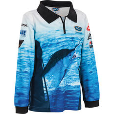 BCF Kids' Marlin Sublimated Polo Blue 4, Blue, bcf_hi-res