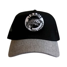 Tradie Men's Reel Legend Barra Cap Black / Grey OSFM, Black / Grey, bcf_hi-res