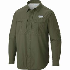 Columbia Men's Cascade Explorer Long Sleeve Shirt Mosstone S, Mosstone, bcf_hi-res