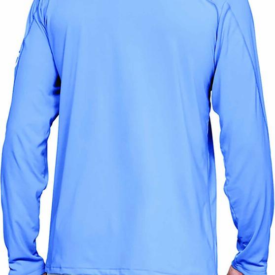 Under Armour Men's Sublimated Isochill Shore Break Long Sleeve T Shirt, Carolina Blue, bcf_hi-res