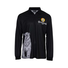 Bundaberg Rum Men's Bearly Sublimated Polo Dark Grey S, Dark Grey, bcf_hi-res