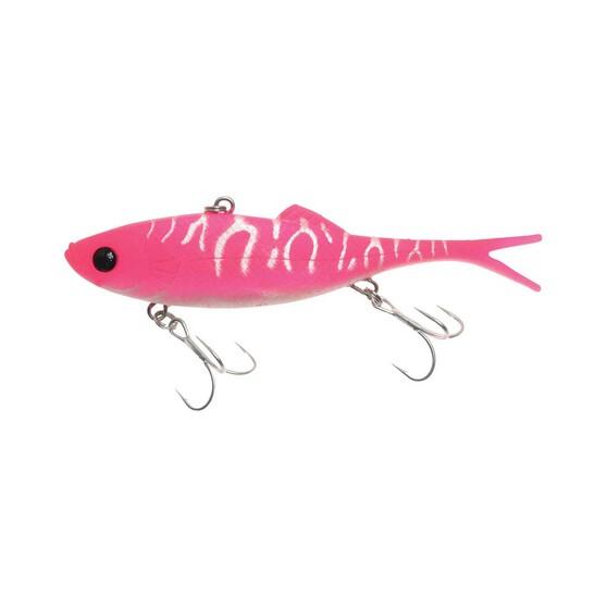 Berkley Shimma Shad Fork Tail Vibe Lure 120mm Hot Pink, Hot Pink, bcf_hi-res