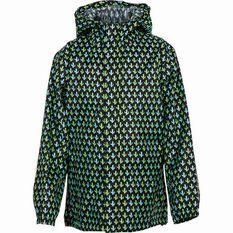 OUTRAK Printed Packaway Rain Jacket Black / Green 4, Black / Green, bcf_hi-res