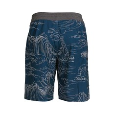 Quiksilver Waterman Men's Angler Print Boardshorts Midnight Blue 30, Midnight Blue, bcf_hi-res