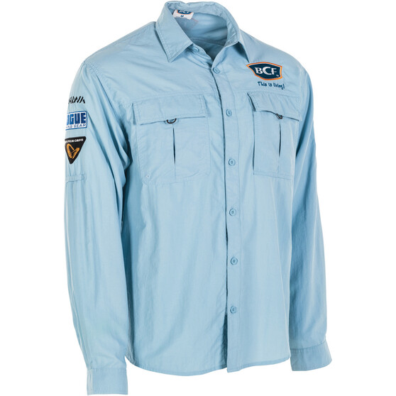 BCF Men's Long Sleeve Fishing Shirt, Spray, bcf_hi-res