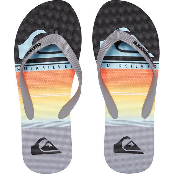 Quiksilver Men's Molokai Highline Slab Thongs, Grey / Black, bcf_hi-res