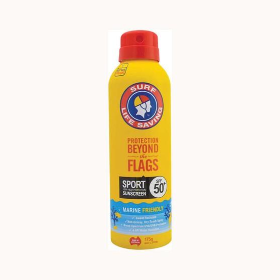 Surf Life Saving SPF50+ Sport Spray Sunscreen 175g, , bcf_hi-res