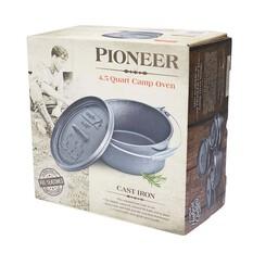 Pioneer Pre Seasoned Camp Oven 4.5 Quart 4.5 Quart, , bcf_hi-res